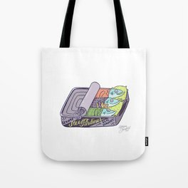 Sleepy Sardines Tote Bag