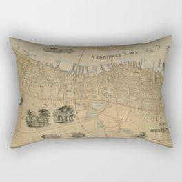 Map of Newburyport 1851 Rectangular Pillow