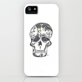 Gray Skull iPhone Case