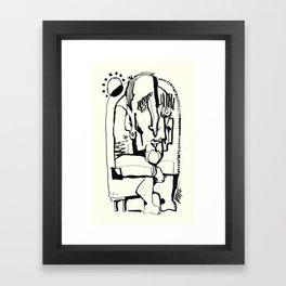 Freezing in Sunlight Framed Art Print
