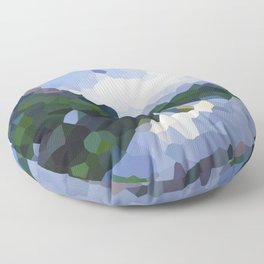 Down by the river Floor Pillow