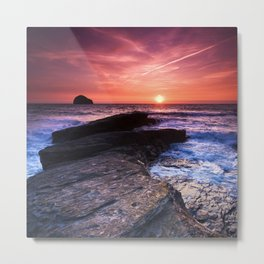 The Sun Goes Down Metal Print