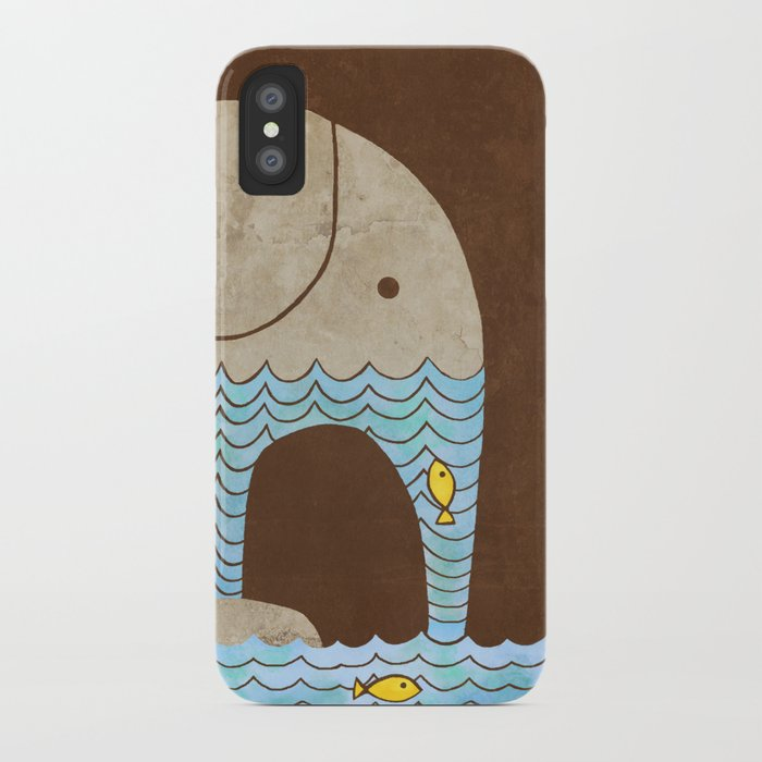 Thirsty Elephant - colour option iPhone Case