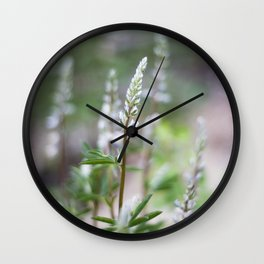 Wild Lupin Wall Clock