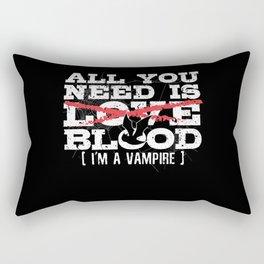 Vampire Bat Bloodsucker Halloween Monsters Rectangular Pillow