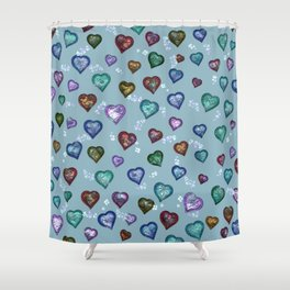 Lovely and Cute B teal Shower Curtain