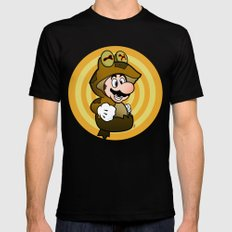 All Glory to the Mario Bros! Mens Fitted Tee Black LARGE