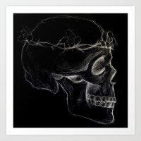The Inverted Skull Art Print