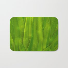background in pastel colors with green grass and dew Bath Mat