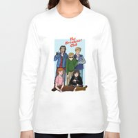 breakfast club Long Sleeve T-shirts featuring The Breakfast Club by Dasha Borisenko