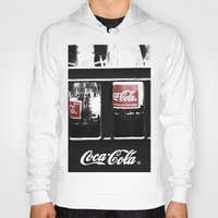 coca cola Hoodies featuring coca cola by Crimson Crazed