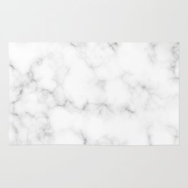 Creamy Marble Pattern With Smoky Veins Rug