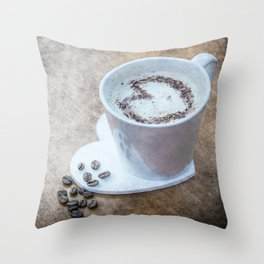 Coffee Lover Throw Pillow