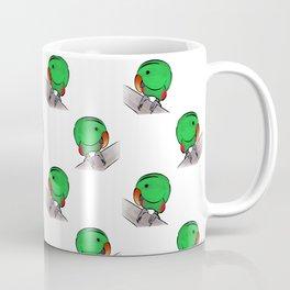 Curious Eclectus Parrot Coffee Mug