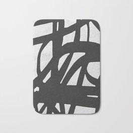 Black Expressionism I Bath Mat