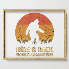 Vintage Hide And Seek World Champion Bigfoot Sasquatch Serving Tray
