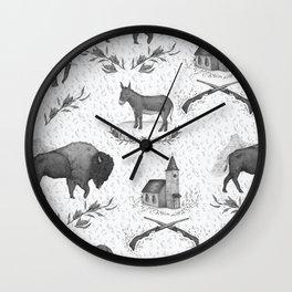 Political Toile Wall Clock
