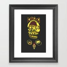 King Death Framed Art Print