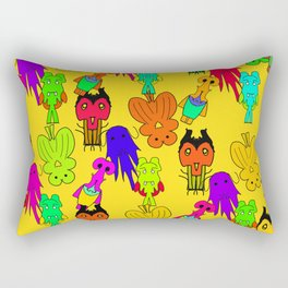 Yellow Clown Rectangular Pillow