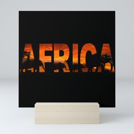 Africa Elephants Typography Mini Art Print