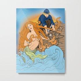 The Entangled Mermaid Metal Print