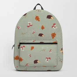 Hedgehogs In The Autumn Forest Backpack