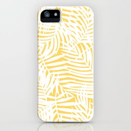 Bright Gold Tropical Island iPhone Case
