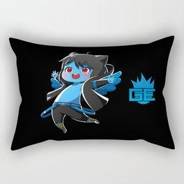 Chibi Luc (Expression 1) w/ Black Background Rectangular Pillow