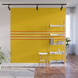 Filigree Thin Stripes on Yellow Wall Mural