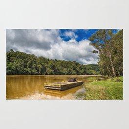 Pontoon on the Barron River Rug