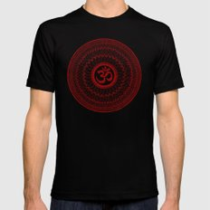 lialiom mandala Mens Fitted Tee LARGE Black