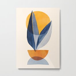 Sunshine Stack / Mid Century Abstract Illustration Metal Print