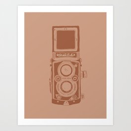 Vintage Rolleiflex Camera Illustration Art Print