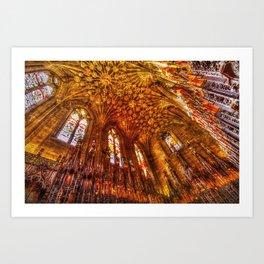 Thistle Chapel Canvas Texture Art Print