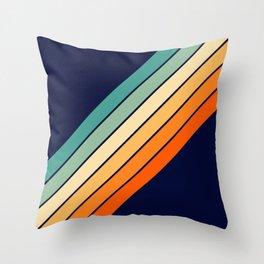 Farida - 70s Vintage Style Retro Stripes Throw Pillow