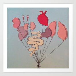 Organ Balloons Art Print