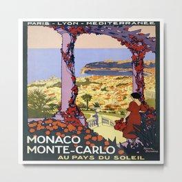 Vintage poster - Monaco Metal Print
