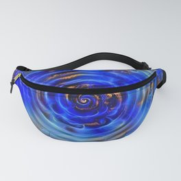 Deep Blue Water Ripple with Gold Dust Fanny Pack