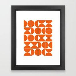 Mid Century Modern Geometric 04 Orange Framed Art Print