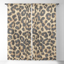 ReAL LeOparD Sheer Curtain