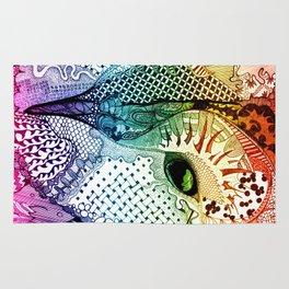 'Ancient Eye' Multi-Colour Rug