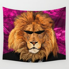Lion Suit Wall Tapestry