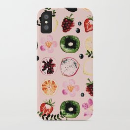 Fruit festival pattern iPhone Case