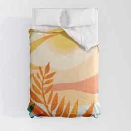 Golden Hour / Abstract Landscape Series Comforters