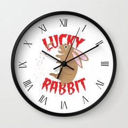 Lucky Rabbit Wall Clock