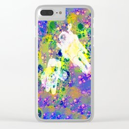 Psychedelic Space Clear iPhone Case
