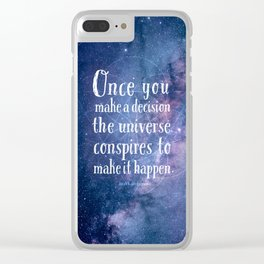 The universe conspires Clear iPhone Case