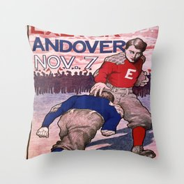 Vintage poster - Exeter vs. Andover College Football Throw Pillow
