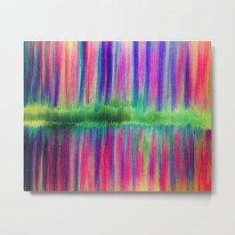 Stripes of Many Colors Metal Print