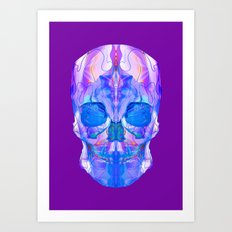Purple Skull Art Print